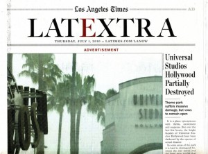 Los Angeles Times LATEXTRA Universal Studios advertising wrap