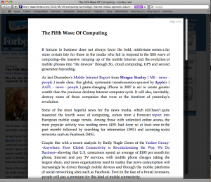 Screen capture of Forbes page using Safari Reader