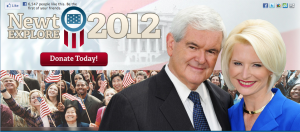 Gingrich 2012 Screen shot