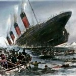 Image of the Titanic sinking