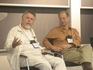 Photo by Shel Israel: Doc Searls and David Weinberger