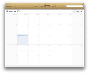 The skeuomorphic design of iCal