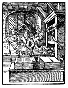 A Printing Press in 1568