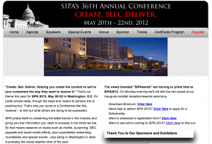 SIPA 2012 Annual Meeting Website